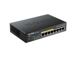 D-Link Dgs-1008P 8-Port Gigabit Metal Desktop Switch With 4 Poe Ports