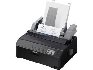Epson - C11CF39202 - Epson LQ-590II NT 24-pin Dot Matrix Printer - Monochrome - 584 cps Mono - USB - Parallel - Serial - Fast Ethernet