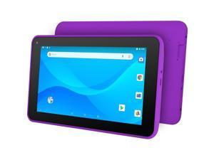 "Ematic EGQ380PR Tablet - 7"" - 1 GB RAM - 16 GB Storage - Android 8.1 Oreo (Go Edition) - Purple - Quad-core (4 Core) 1.50 GHz - 300 Kilopixel Front Camera"