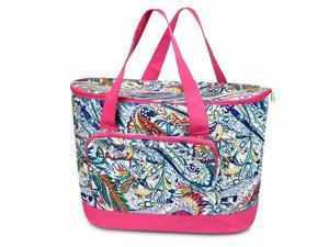 Large Insulated Cooler Tote Carry Box Food Storage Travel Bag Paisley