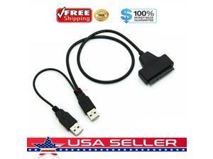 USB 2.0 to 2.5inch HDD 7+15pin SATA Hard Drive Cable Adapter For SATA SSD  HDD