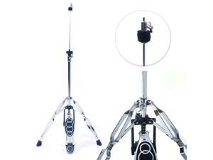 New Drum High Hat Cymbal Stand Double Braced Chrome Parts Accessories