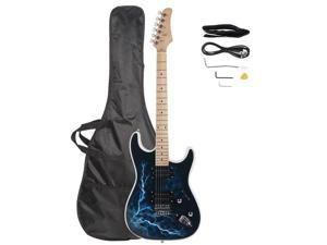 White GST-E 22 Frets Right Handed 6 Strings Electric Guitar with Bag