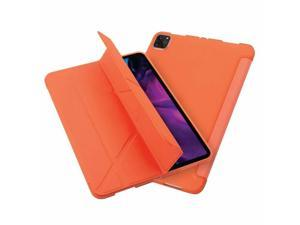"""Tablet Case for iPad Pro 12.9"""" 2020, Multifold Stand, Magnetic Cover, Orange"""