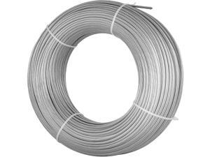 """T316 Stainless Steel Cable Wire Rope,1/8"""",7x7,100ft Machinery Fishery Strand"""