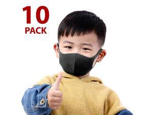 10 PCS Child Size Face Mask Mouth Cover Washable Reusable Black