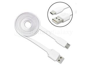100 Micro USB Flat Noodle Charger Cable Cord for  Galaxy Note 1 2 3 4 5 6