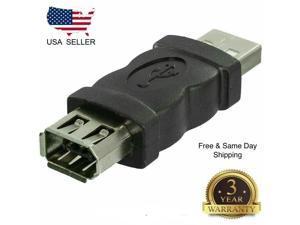 NEW Firewire IEEE 1394 6 Pin Female F to USB M male Adaptor Converter