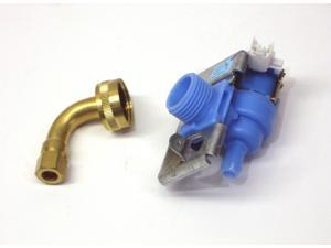 Dishwasher Water Inlet Solenoid Valve for Whirlpool W10648041 with Adapter