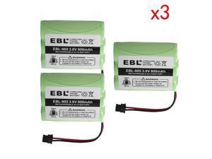 3x 800mAh BT-800 Battery For Uniden BT-905 CP355  P-P501 Cordless Phone