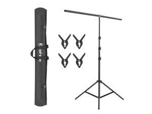 6.5ft Adjustable T-Shape Backdrop Stand Kit Background Support System W/ Clamps