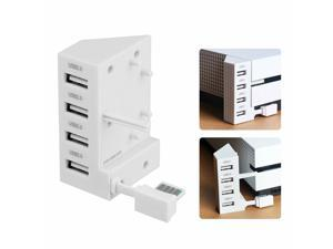 Modern White 4-Ports USB 2.0 HUB USB Extension Adapter For Xbox One S Consoles
