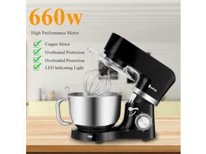 5.8QT 660W Pro Tilt-Head Stand Mixer 6 Speed Electric Stainless Steel Bowl