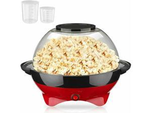 Popcorn Popper Machine Electric Hot Oil Stirring Popcorn Maker for Family Party