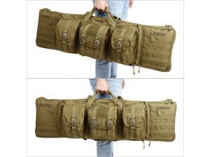 """Heavy Duty Tactical Double Rifle Bag  Range Padded Soft Case Backpack 36"""" 42"""""""