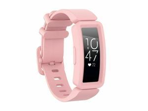 Soft Silicone Band Wistband For  Inspire HR/Inspire/Ace 2 Tracker Pink