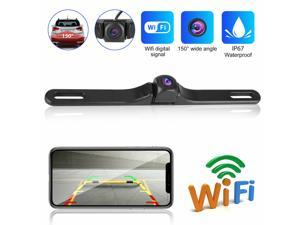 WiFi Wireless Car Rear View License Plate Backup Reverse Camera For Android IOS
