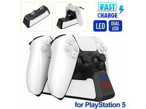 Dual Controller LED Charger Dock Ston USB Charging Stand For PS5 PlaySton5