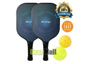 Pickleball Paddle Set Lightweight Graphite Honeycomb Core Paddles With 2 Balls