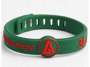 2 Pieces Sports Bracelets NBA Silicone Wristbands Basketball Player Giannis Antetokounmpo
