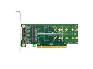 Linkreal PCIe X16 to 4 Port M.2 NVMe SSD Adapter-Low profile