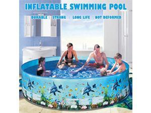 72 Inches Summer Household Inflatable Swimming Pool Blow Up Pool for Family Kids Water Party Backyard