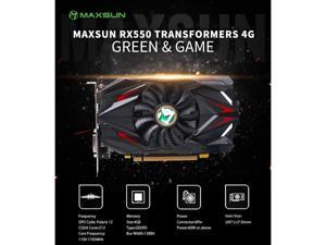 RX 550 Transformers 4G RX 550 4G Graphic Card GDDR5 GPU Gaming Video Card video For PC New cyclone blade cooling system 9CM large size frost blade fan Video Memory Capacity: 4 GB