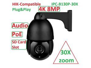 Network Cameras Support POE cloud storage 8.0 megapixel HD IP camera, maximum resolution 3840*2160 up to 128G TF card storage 4.7-94mm 30X optical zoom auto focus lens