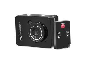 """Hi Speed Sports Action Camera - HD 1080P Mini Camcorder w/ 12 MP Cam, 2.4"""" Touch Screen USB SD Card HDMI, Battery - Waterproof Case, USB Cable, Wireless Remote Control, Mount -  PSCHD60BK (Black)"""