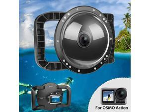 Underwater Dome for DJI OSMO Action Camera Dual Handheld Tray Dome Port Housing Case Up to 45m147ft Waterproof Diving Photography Accessories
