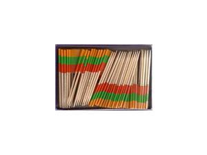 Box of 100 Country Toothpick Flags, 100 Small Mini International Flag Cupcake Toothpicks or Cocktail Picks (Lithuania)