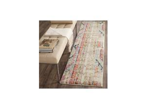 """Monaco Collection MNC222F Boho Chic Tribal Distressed Non-Shedding Stain Resistant Living Room Bedroom Runner, 2'2"""" x 6' , Multi"""