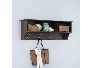 Entryway Cubbie Shelf, Espresso