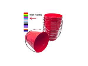 Metal Bucket 37 Quart color Red Size 75 x 75 6Pack