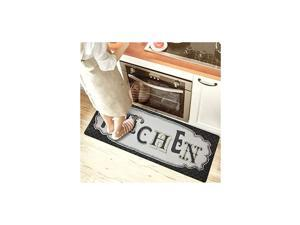 Black Kitchen Floor Mat Non Skid Runner Waterproof Floor Mat Kitchen Runner 20x48