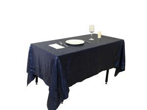 Fathers'Day Gift Sparkly Black Sequin Tablecloth for Party--72x72Inch