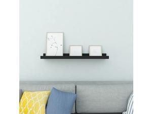 Floating Picture Ledge Display Wall Mount Shelf for Picture Frames Book Display (White, 24inch)