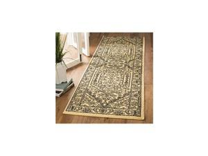 """Adirondack Collection ADR108H Oriental Medallion Non-Shedding Stain Resistant Living Room Bedroom Runner, 2'6"""" x 20' , Gold / Black"""