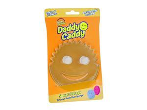Daddy Caddy - Smile Face Sponge Holder with Built in Dual Non-Slip Suction Cups for Convenient Storage, Smart Storage, Promotes Drying, Easy to Clean, Dishwasher Safe- 1ct