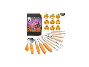 Pumpkin Carving Tools Kit, 13 Piece Professional Professional Pumpkin Cutting Supplies Tools Kit Stainless Steel Lengthening and Thickening for Decoration jack-o-lanterns