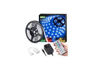 D Strip Lights, 16.4ft RGB 5050 D Strips with Remote Controlr, Color Changing Tape Light with 12V Power Supply for Room, Bedroom, TV, Kitchen, Desk