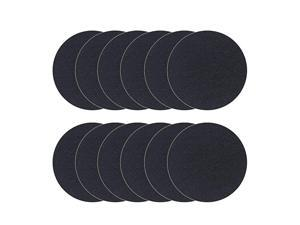 Compost Bin Filters, 12 Packs, Activated Carbon Filters for Kitchen Compost Pail Filters Replacement for 1.6/1.8 Gallon Compost bin, 8.45 Inches, 6mm Thickness