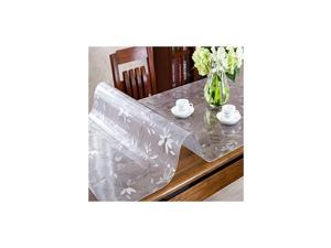 Upgraded Version 1.5mm Thick Clear Table Cover Protector, 42 x 120 Inch, Odorless Table Plastic Cover Clear Table Pad, Heavy Duty Table Protector for Dining Room Table