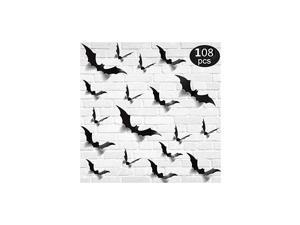 3D Bats Sticker Halloween Party Supplies Reusable Decorative Scary Wall Decal for Home Window Clings Decorations
