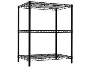 Wire Shelving Storage Unit (3 Tier, Black)