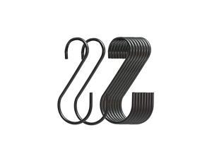 Pack Black S Hooks,Heavy Duty Metal Hooks Can Withstand up to 33 pounds.for Kitchen,Office,Garden or Outdoor Activities