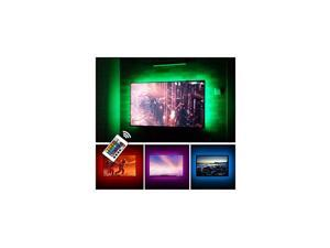 TV Backlight LED Strip Lights Kit for 24 to 60 inches Smart TV Sony LG Monitor, HDTV Wall Mount Stand Work Space Gaming Room Decor, LED Bias Ambient Mood Lighting