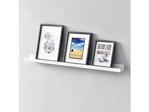 Picture Ledge Photo Ledge Floating Wall Shelves, 36-inch, White