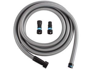 94126 Quick Click 20 Ft. Hose for Home and Shop Vacuums with Multi-Brand Power Tool Adapter for Dust Collection, Silver