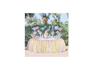 Table Skirt Tutu Table Skirts Wedding Tablecloth Birthday Baby Shower Party Table Skirting Table Decorations 9ft-unicorn (Unicorn, 9ft (L) x 30inch (H))